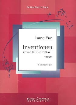 Inventionen 1983/84 - 2 Flöten Isang Yun Partition laflutedepan