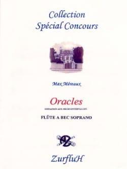 Oracles Max Méreaux Partition Flûte à bec - laflutedepan