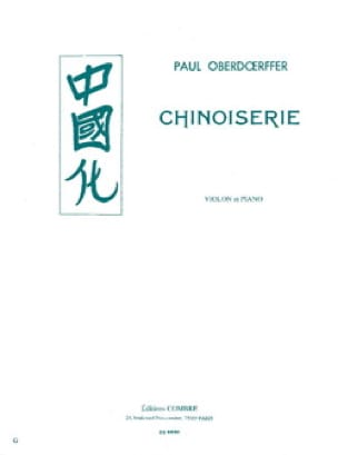 Chinoiserie - Paul Oberdoerffer - Partition - laflutedepan.com