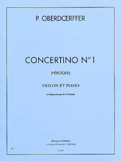 Concertino n° 1 Paul Oberdoerffer Partition Violon - laflutedepan