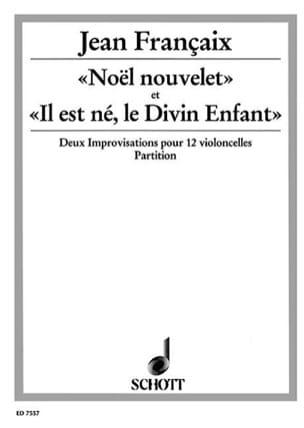 Noël nouvelet - Il est né, le Divin Enfant - Score - laflutedepan.com