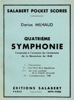 Symphonie n° 4 - Conducteur - MILHAUD - Partition - laflutedepan.com