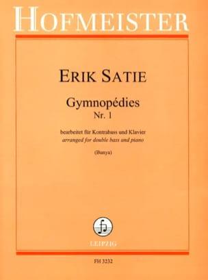 Gymnopédies N°1 SATIE Partition Contrebasse - laflutedepan