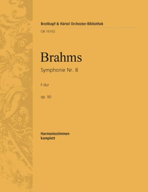 Symphonie N° 3 F-Dur Op 90 - Harmonie BRAHMS Partition laflutedepan