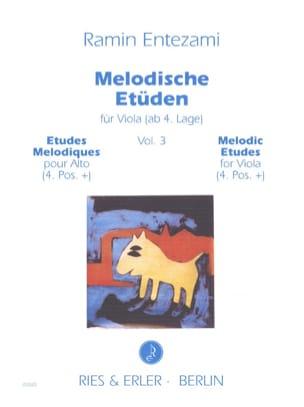 Etudes Mélodiques Vol. 3 - Alto Ramin Entezami Partition laflutedepan