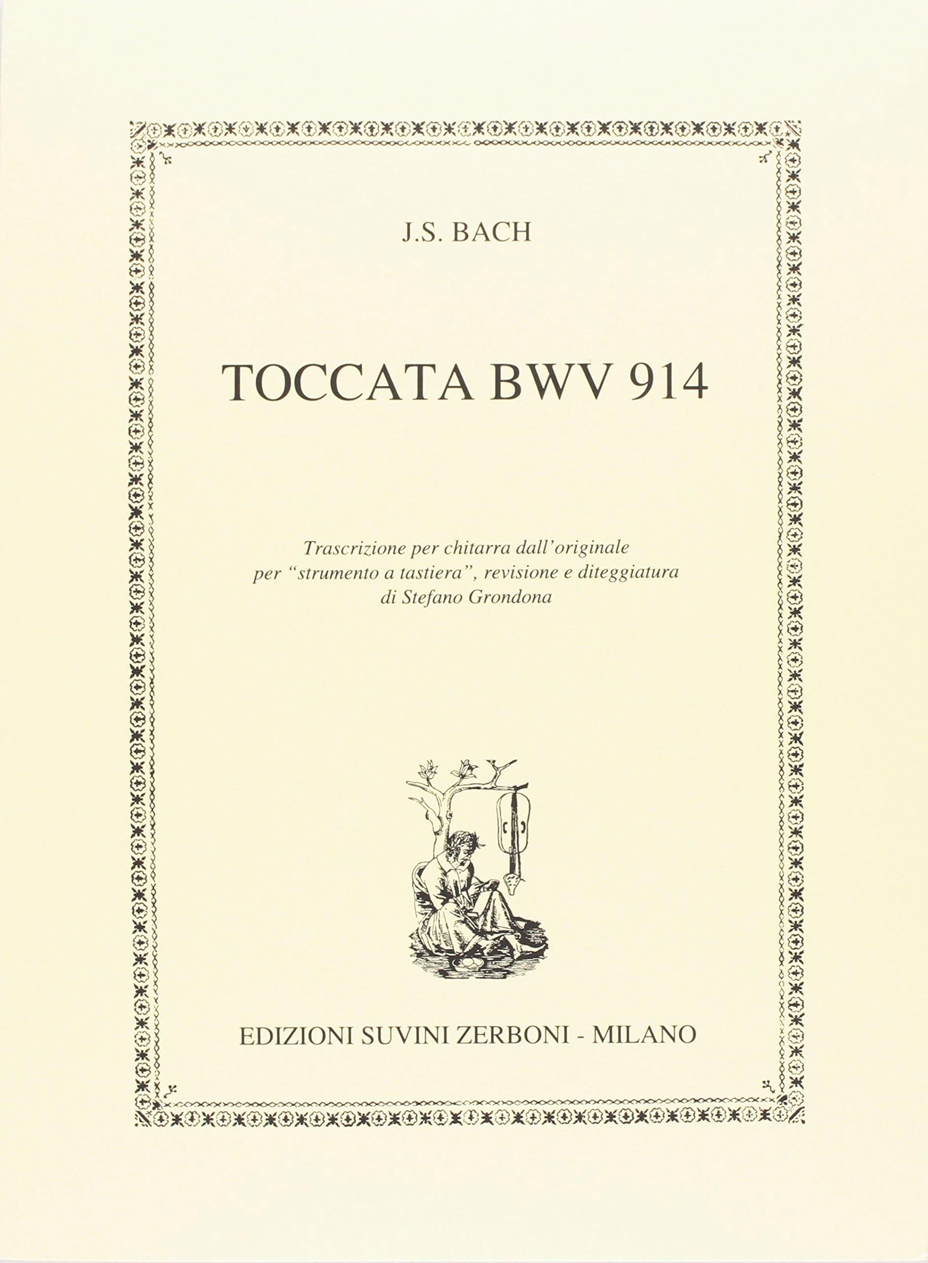 Toccata BWV 914 - BACH - Partition - Guitare - laflutedepan.com