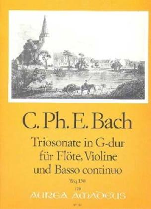 Triosonate G-Dur Wq 150 -Flöte Violine u. Bc - laflutedepan.com