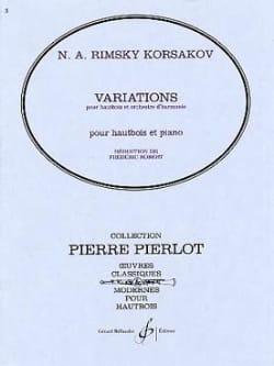 Variations RIMSKY-KORSAKOV Partition Hautbois - laflutedepan