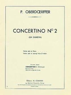 Concertino n° 2 Paul Oberdoerffer Partition Violon - laflutedepan