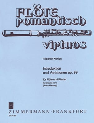 Introduktion und Variationen op. 99 Friedrich Kuhlau laflutedepan