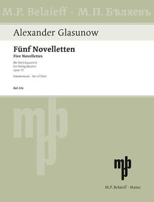 5 Novelletten op. 15 -Stimmen Alexandre Glazounov laflutedepan