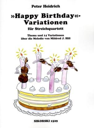 Happy Birthday-Variationen für Streichquartett laflutedepan