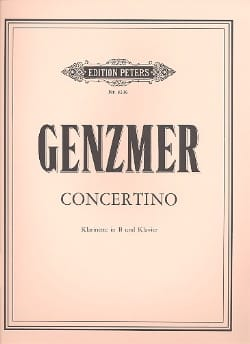 Concertino - Klarinette Klavier Harald Genzmer Partition laflutedepan
