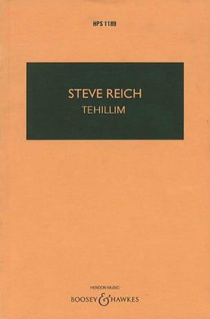 Tehillim Steve Reich Partition Grand format - laflutedepan