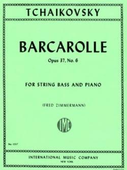 Barcarolle op. 37 n° 6 TCHAIKOVSKY Partition laflutedepan