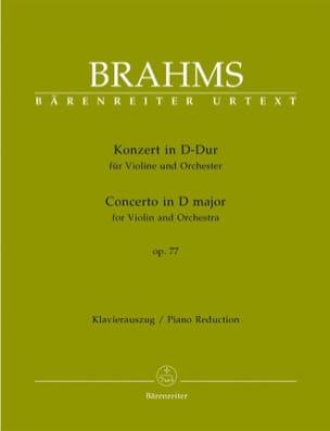 Concerto pour Violon en ré majeur op. 77 BRAHMS Partition laflutedepan