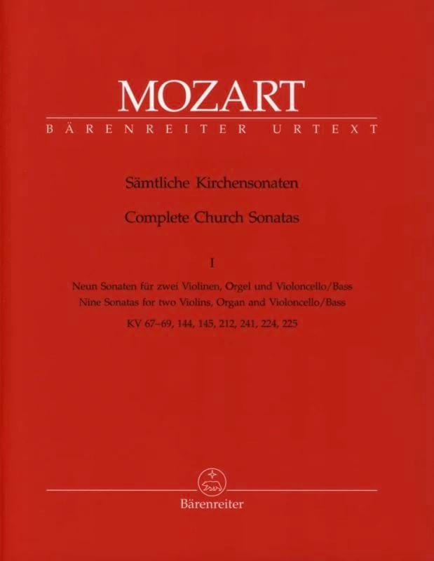 Sämtliche Kirchensonaten - Heft 1 - MOZART - laflutedepan.com