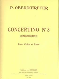 Concertino n° 3 Paul Oberdoerffer Partition Violon - laflutedepan