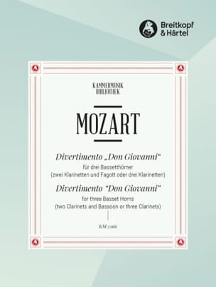 Divertimento Don Giovanni -3 Bassetthörner 2 Klar. Fag. /3 Klar. laflutedepan
