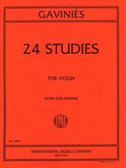 24 Etudes Galamian Pierre Gaviniès Partition Violon - laflutedepan