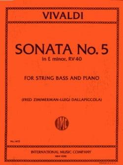 Sonate n° 5 in E min. RV 40 - String Bass - VIVALDI - laflutedepan.com