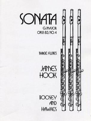 Sonate G Dur op 83/4 James Hook Partition laflutedepan