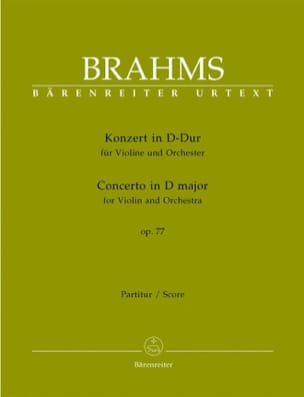 Concerto pour Violon en Ré majeur op. 77 - Score BRAHMS laflutedepan