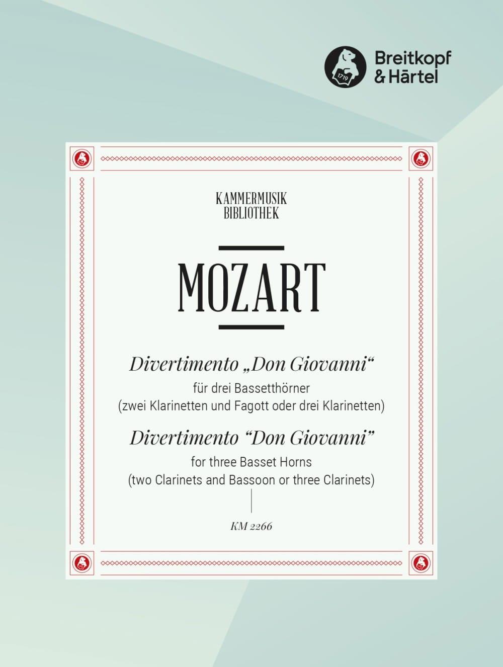 Divertimento Don Giovanni -3 Bassetthörner 2 Klar. Fag. /3 Klar. - laflutedepan.com