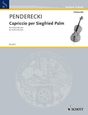 Capriccio per Siegfried Palm - Cello solo PENDERECKI laflutedepan