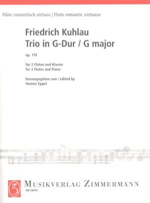 Trio en Sol Majeur Op. 119 Friedrich Kuhlau Partition laflutedepan