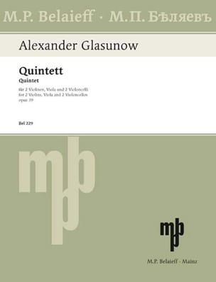 Alexandre Glazounov - Streichquintett op. 39 - Stimmen - Partition - di-arezzo.co.uk
