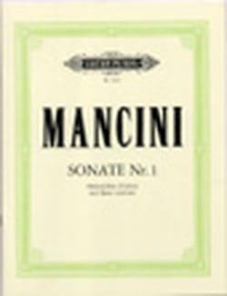 Sonate n° 1 Francesco Mancini Partition Flûte à bec - laflutedepan