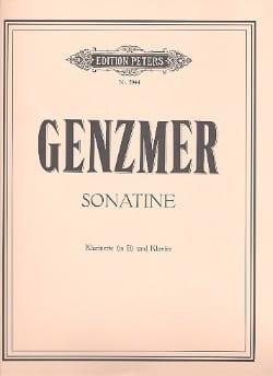 Sonatine - Klarinette Klavier Harald Genzmer Partition laflutedepan