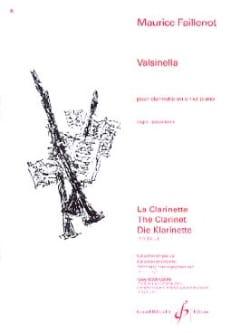 Valsinella Maurice Faillenot Partition Clarinette - laflutedepan