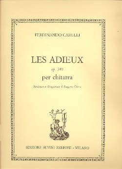 Les Adieux, op. 249 Ferdinando Carulli Partition laflutedepan