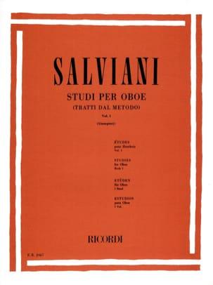 Studi per oboe - Volume 1 - Clemente Salviani - laflutedepan.com
