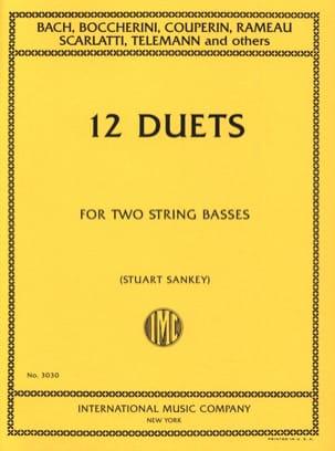 12 Duets - 2 String basses Stuart Sankey Partition laflutedepan