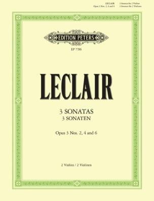 3 Original Sonatas, op. 3 - 2 Violins LECLAIR Partition laflutedepan
