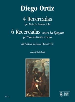 4 Recercadas Diego Ortiz Partition Viole de gambe - laflutedepan