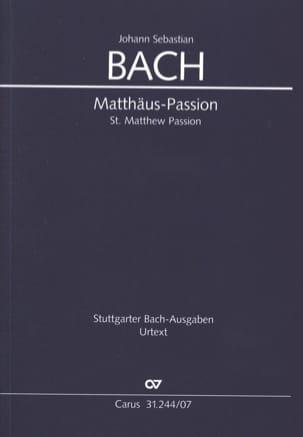 Passion selon Saint-Matthieu BACH Partition laflutedepan