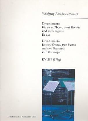 Divertimento Es-Dur KV 289 -Bläsersextett - Stimmen - laflutedepan.com
