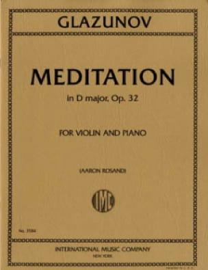 Méditation En Ré Maj.Op.32 - Alexandre Glazounov - laflutedepan.com