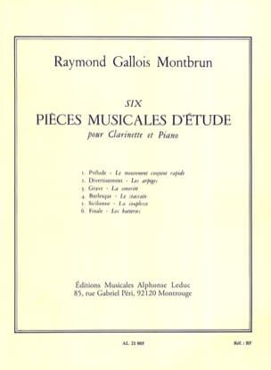 6 Pièces musicales d'étude -Clarinette laflutedepan
