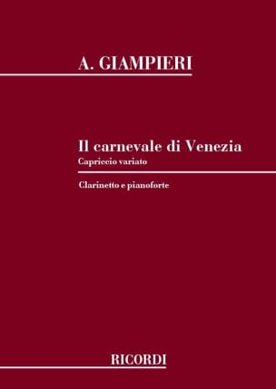 Il Carnavale di Venezia Alamiro Giampieri Partition laflutedepan