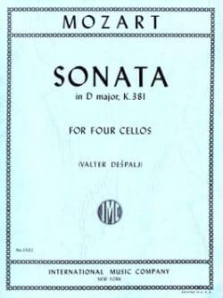 Sonata in D major, KV 381 - 4 Cellos MOZART Partition laflutedepan