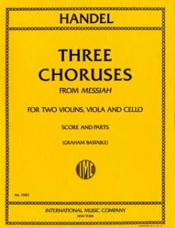3 Choruses Messiah -String quartet - Score + Parts - laflutedepan.com