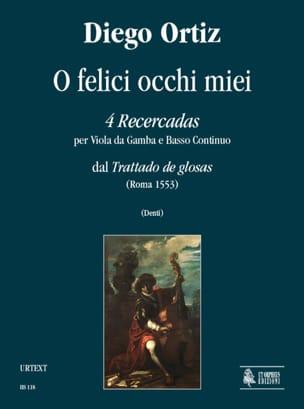 4 Recercadas - O Felici Occhi Miei Diego Ortiz Partition laflutedepan