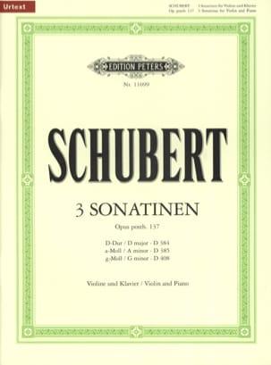 3 Sonatines Op Posth. 137 SCHUBERT Partition Violon - laflutedepan
