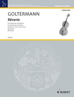 Rêverie en Sol Mineur Op.92 N°2 Georg Goltermann laflutedepan