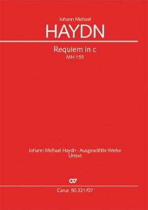 Requiem en ut mineur Michael HAYDN Partition laflutedepan